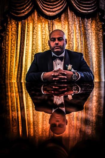 Posing groom 01