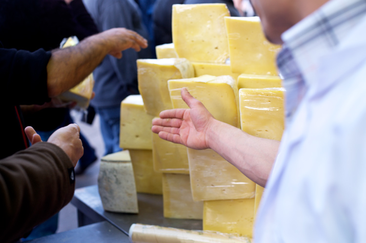 close up of cheese being sold in a Turkish street market - How to be Better Prepared for Your Next Photo Shoot