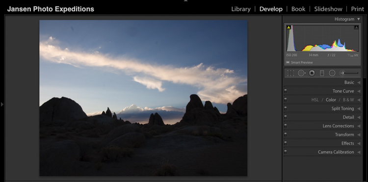 Alabama Hills Before - Don't Fear Photo Post-Processing - Shooting is Only the First Part of the Image Creation Process
