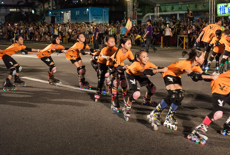 Image: Children's rollerblade display team at the Ghost Festival parade – Keelung, Taiwan. 1/2...