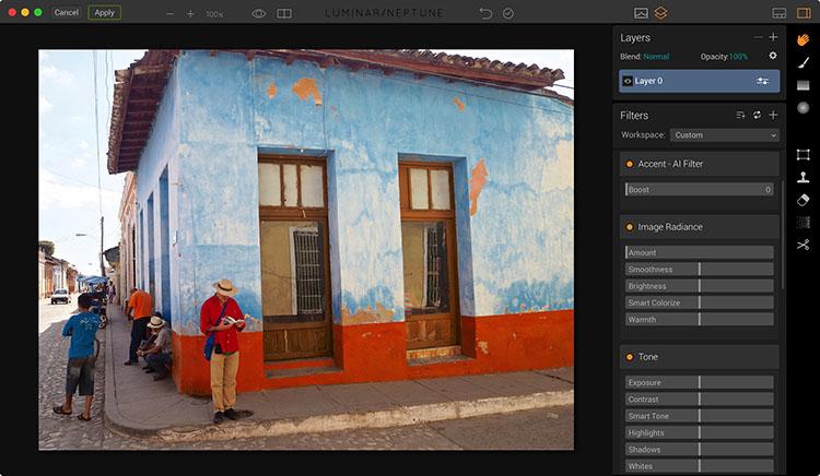 Image before editing in Luminar