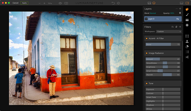 Image after editing in Luminar