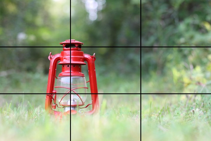 A shot showing the rule of thirds - How to Break the Rules with a central composition