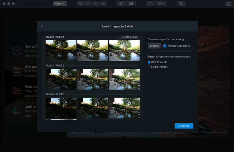Aurora HDR Batch Processing