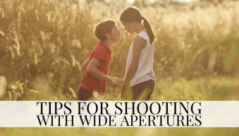Tips for shooting with wide open apertures