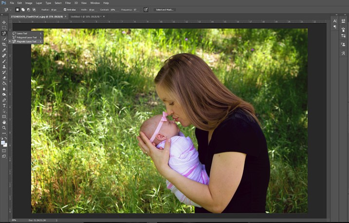 How to Blur the Background of a Portrait Using the Magnetic Lasso Tool in Photoshop