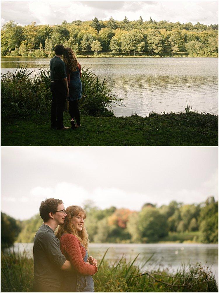 couple by lake