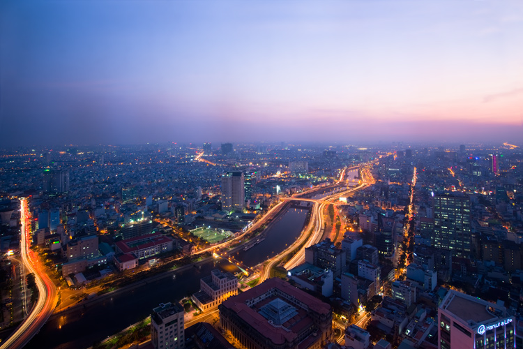 Vietnam - Tips for Shooting Through a Glass Window of an Observation Deck at Blue Hour