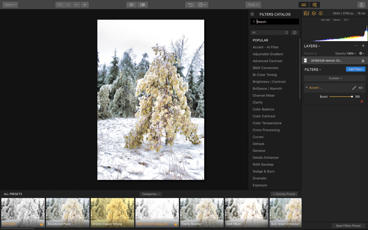 How to Process Your Holiday Photos with the Accent AI Filter in Luminar