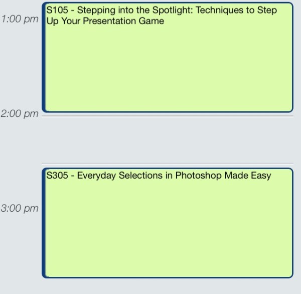 Photography Conference Tips - Schedule