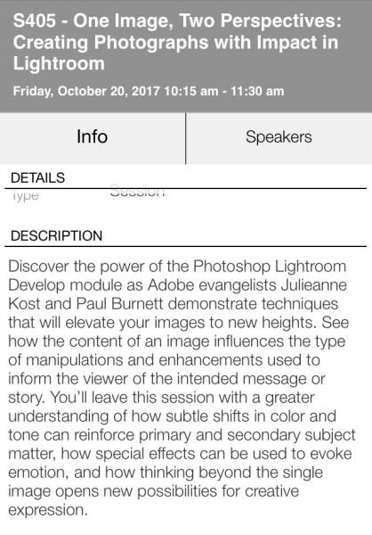 Photography Conference Tips - Course description