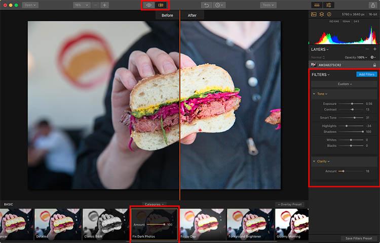 Luminar Apply Preset - How to Make Food Photos Look Tastier with Luminar