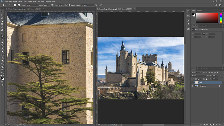 same doc two windosw - 5 Must-Know Photoshop Retouching Tips and Tricks for Photographers