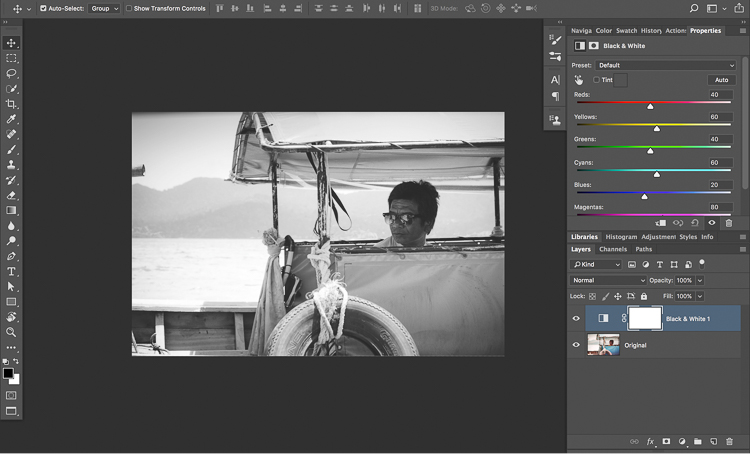 Photoshop BlackandWhite Conversion - How to Know What to do and Where to Start with Photo Editing in Photoshop