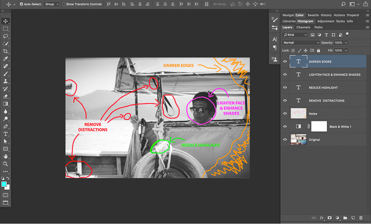9 Darken Edges - How to Know What to do and Where to Start with Photo Editing in Photoshop