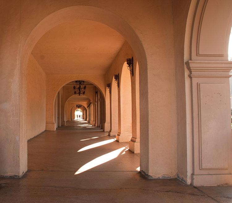 Balboa Park Corridor Before Luminar 2018 RAW Develop