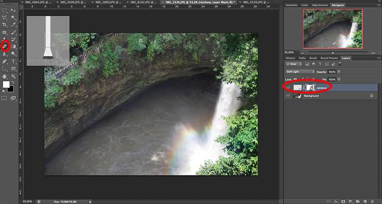 Erase rainbow