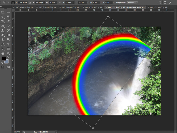 Transform rainbow