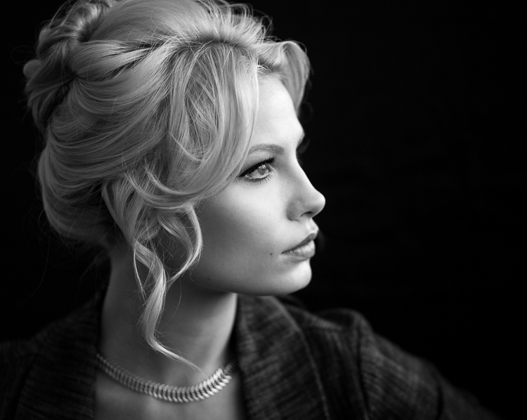 Weekly photography challenge black and white portrait