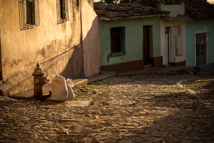 Image: In this image shot in Trinidad, Cuba I found some amazing light skimming across the cobblesto...
