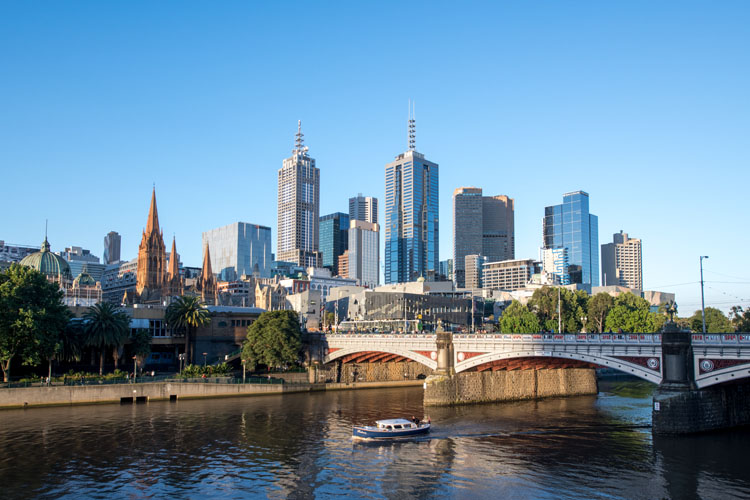 Image: Late afternoon in the city of Melbourne.