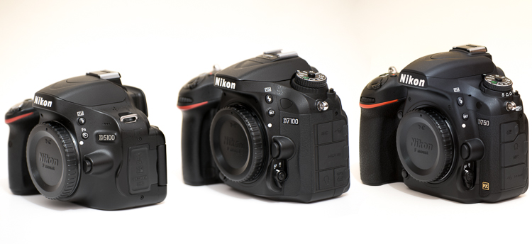 Camera Comparison of 3 Popular Nikon Models: D750 - D7100