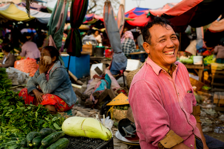 Happy market vendor in Mandaly, Myanmar. - 3 Bad Habits to Break to Improve Your Photography