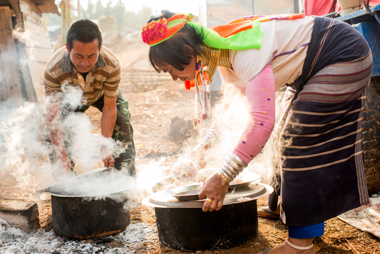 Kayan long neck woman cooking outdoors in Myanmar - 3 Bad Habits to Break to Improve Your Photography