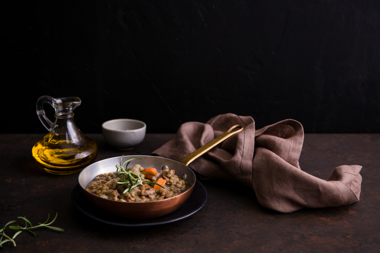 Lentil Soup - Five Essentials of Doing Dark Food Photography