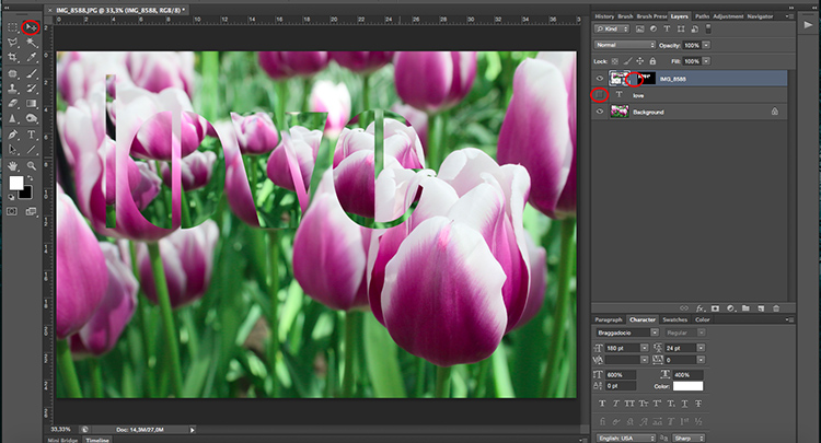 Unlink - How to Use Layers and Masks in Photoshop to Add Text to Your Photos