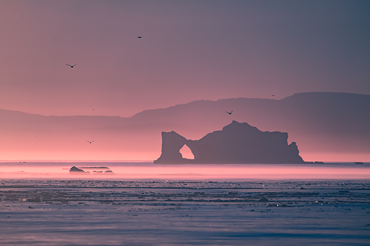 01 Sunset in Ilulissat Icefjord Greenland - 5 Tricks to Make Your Landscape Photos Stand Out