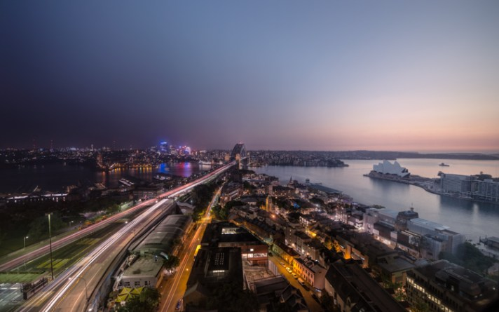 Australia Sydney Harbor View Time Compressed