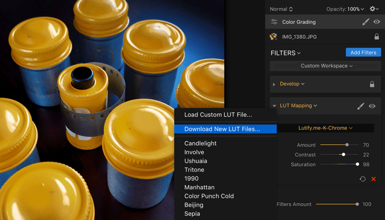 Download New LUTs - Easy Color Grading With LUTs and Luminar 2018