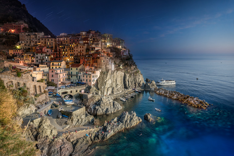 Italy Manarola Day to Night