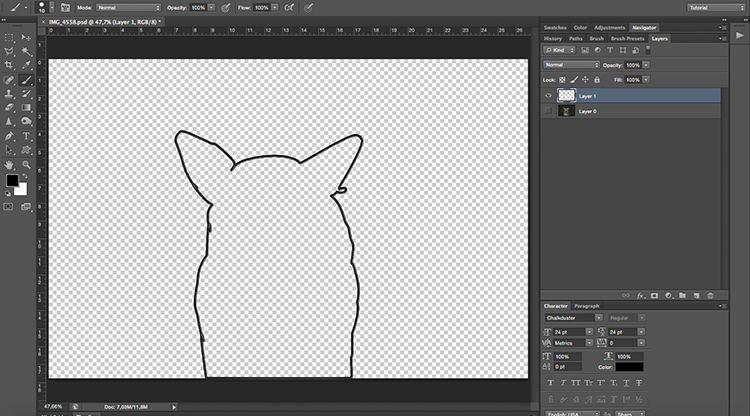 Silhouette - How to Turn Your Photo into a Cartoon Drawing Using Photoshop