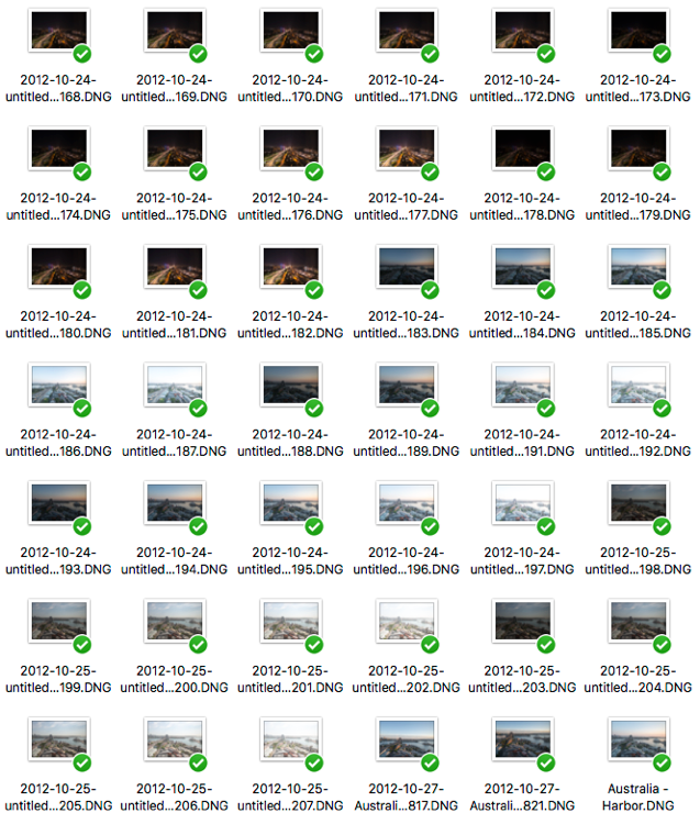 Step 1 image folder with images - How to Compress Time Into One Photo