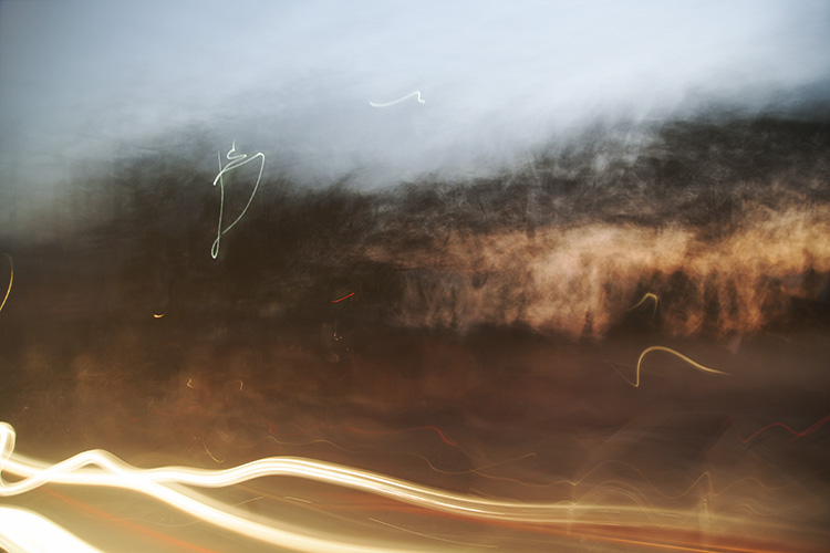 Image: This image was taken with a slow shutter speed while traveling through the outback. The after...