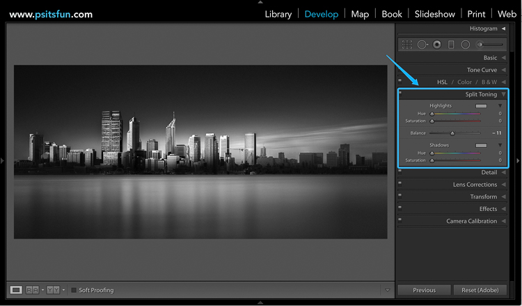 12 How to split tone black and white images using luminosity masks
