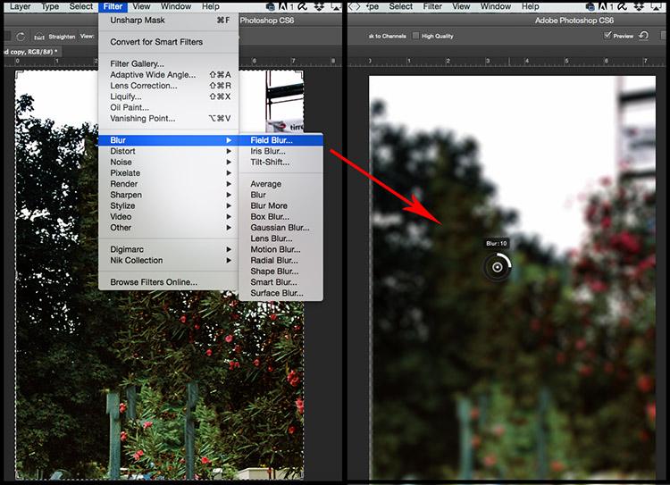 Field Blur Filter Fake DepthofField Tutorial