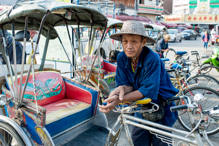Man with his tricycle taxi in Chiang Mai, Thailand - How Slow Photography Can Help You Improve Your Images