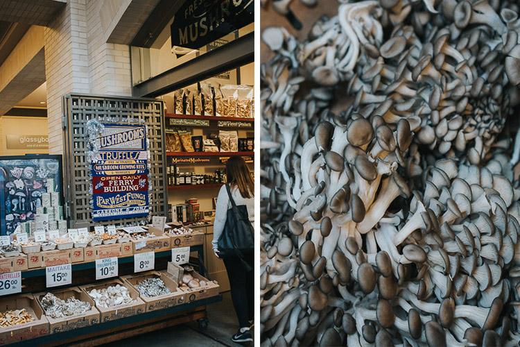 Tips for photographing street markets - mushrooms
