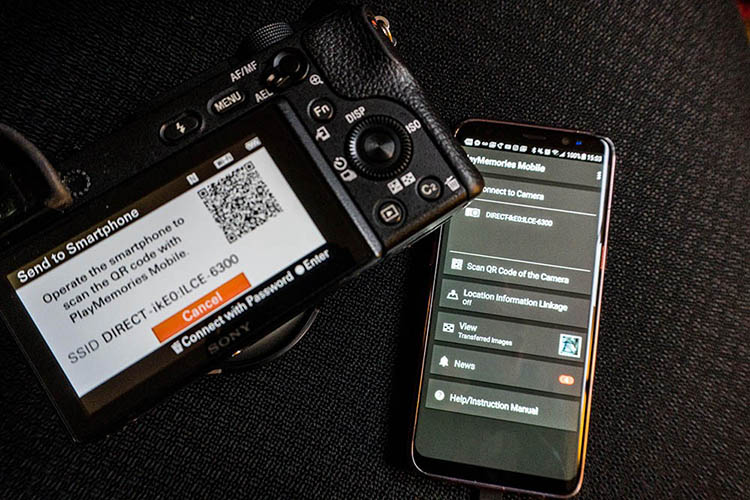 Sony-Wifi QR code - Why This Pro is (sort of) Switching from Canon to Sony