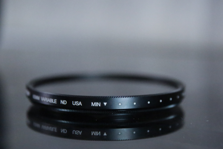 Review of the Tiffen Variable Neutral Density Filter - minimum setting