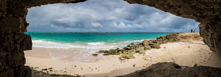 view from a cave of the ocean - travel photography hacks