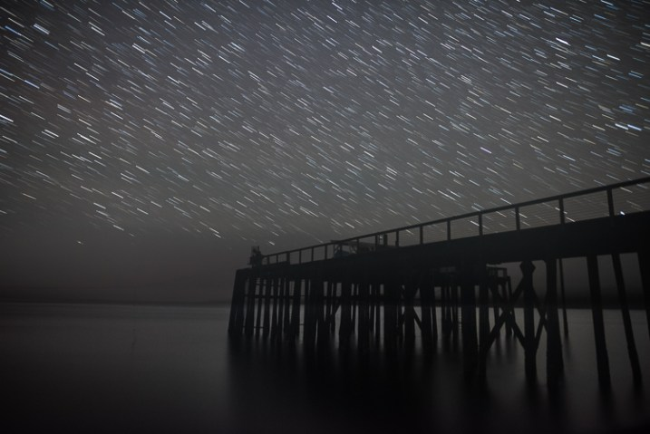 Star Trails, Alaska dock - 7 Tips for Shooting and Processing Star Trails