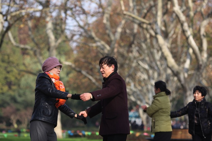 park in China with people exercising and moving around - 7 Great Reasons to do Early Morning Photography