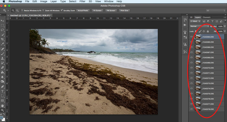 Photoshop layers -  travel photography hacks