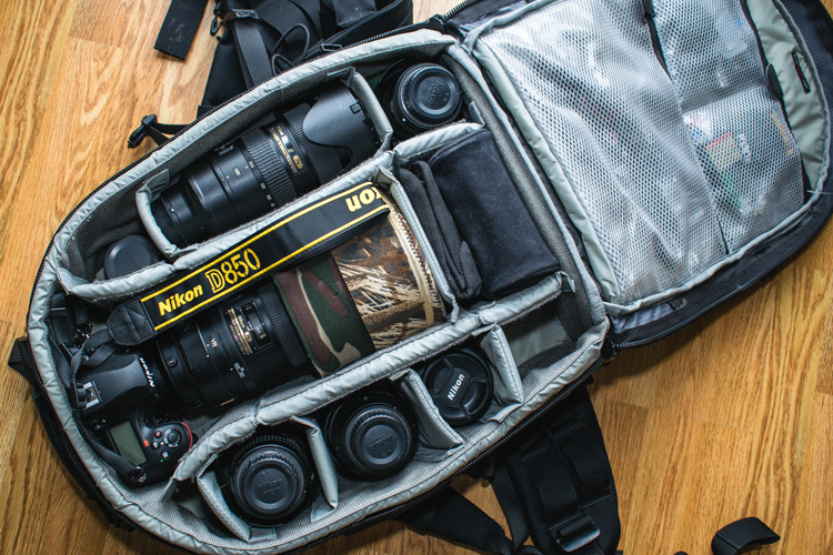 Camera bag layout 24 wildlife