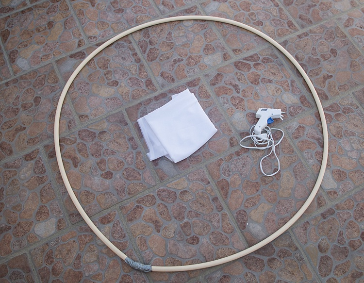 Image: This scrim was made with a thiPVCvc pipe about 6 feet long to create a diameter of about 3 fe...