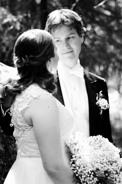 The look between newlyweds. Tips on How to Capture Affection in Your Photographs